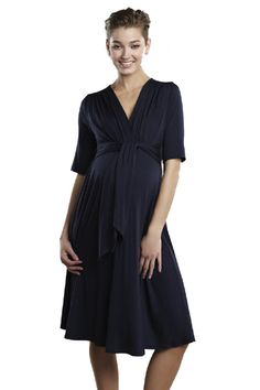 Summer Weight Front Tie Dress by Maternal America   Maternity Clothes Best selection of designer maternity clothes on the web Available at Due Maternity www.duematernity.com