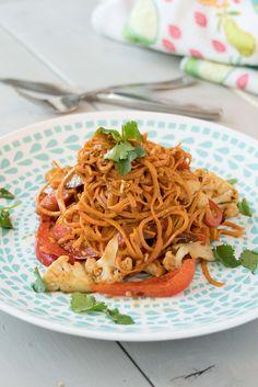 Sweet Potato Vegetarian Pad Thai - Joyous Health
