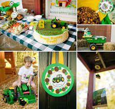 {John Deere Inspired} Tractor Birthday Party! http://hwtm.me/12eVZqI
