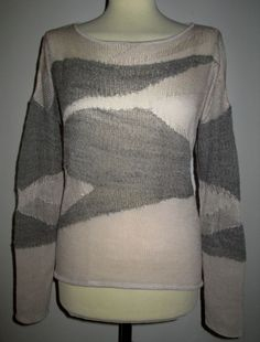 * * * HELMUT LANG Pullover grau/beige, Gr.M * * * | eBay