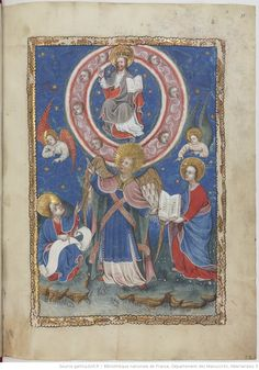 Apocalipsis in dietsche Apocalypse, Book Of Hours, Blessed Virgin Mary, Bnf, Illuminated Manuscript, Painting, Pictogram, Angels, Painting Art
