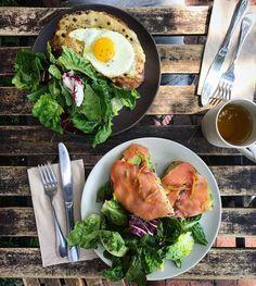 """2,157 curtidas, 9 comentários - Donal Skehan (@donalskehan) no Instagram: """"Croque Madam & Smoked Salmon & Avocado Tartine at our favourite LA brunch spot @valerieconfctns! """""""
