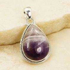 Purple Rain Amethyst Pendant & .925 Sterling by TheSilverPlaza