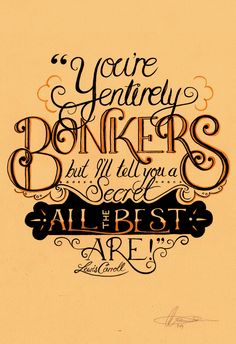 Alice in Wonderland Typography - Kate Newman