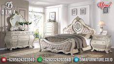 Jual Dipan Tempat Tidur Mewah Jepara Ukiran Terbaru Amazing Khaki DF-1330