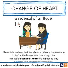 Expression: Change of heart