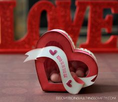 For my Valentine - Heart Shaped Treat Box, SVG Cut File - cut with Silhouette Cameo