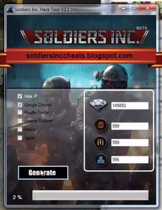 Repin if this Soldiers Inc Cheats Works for you too!! soldiersinccheats.blogspot.com #soldiersinc #soldiersinccheats #games #cheats #awesomecheats