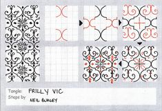 Frilly Vic - tangle pattern by perfectly4med