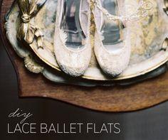 DIY Lace Ballet Flats