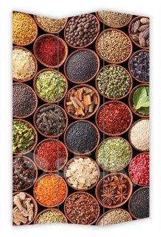 Folding Screen HERBS & SPICES by Sticky!!!
