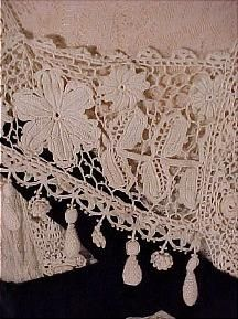 c. 1912 Irish Crochet Lace Wedding Gown