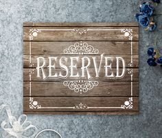 Reserved Sign For Venue Auditorium Theater Church In