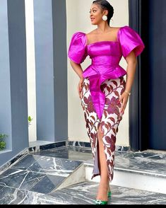 African Party Dresses, Latest African Fashion Dresses, African Print Dresses, Lace Dress Styles, Sleeves Designs For Dresses, Couples African Outfits, African Attire, Elegant Dresses For Women, African Traditional Dresses