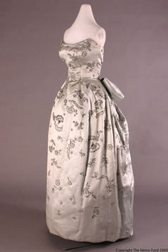 Evening Dress Christian Dior, 1955 The Henry Ford Costume Collection