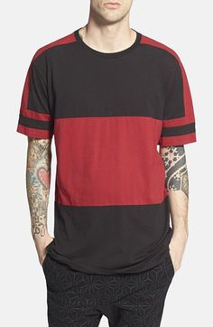 Men's ZANEROBE 'Lineback' Colorblock Longline T-Shirt Mens Tee Shirts, Polo T Shirts, Mens Trends, Athleisure Fashion, Tee Design, Look Cool, Color Blocking, Graphic Tees, Shirt Designs