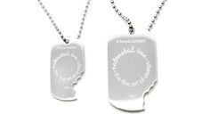 Sterling Silver Lost and Found Dog Tags