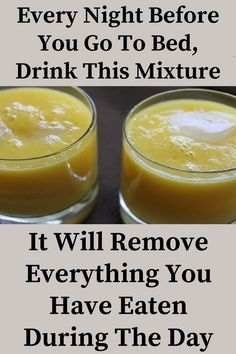 Every Night Before You Go To Bed, Drink This Mixture: You Will Remove Everything You Have Eaten During The Day Because This Recipe Melts Fat For Full 8 Hours. During your sleep, the body burns fat and increases the weight loss process.