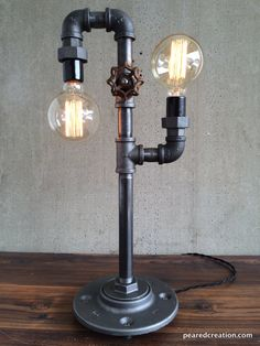 Modern Table Lamp Industrial Lighting Iron by newwineoldbottles