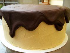Peanut butter chocolate layer cake