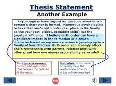 Resultado de imagen para thesis statement example
