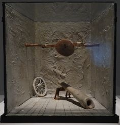 """Tadeusz Kantor: Model to """"The return of Ulysses"""", for a play by Tadeusz Kantor. In origin a wartime production, later in 1988 revisited. Museo Reina Sofía de Madrid. Photo by Drager Meurtant."""
