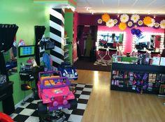 Haircuts, Updo, and Parties for Kids - Sharkeys Cuts for Kids Kids Hair Salon, Barbershop Ideas, Kids Spa, Kids Cuts, Hair Salons, Consignment Shops, Salon Ideas, Spas, Barber Shop