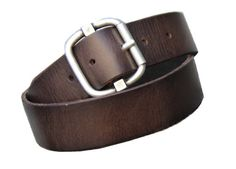 MEN - Vintage Style Dark Brown Leather Belt Size by StaghoundLeather