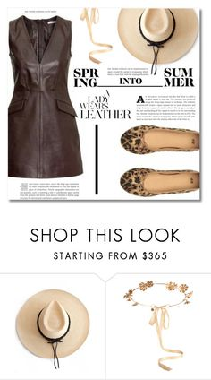 """""""Brown Leather"""" by dolly-valkyrie ❤ liked on Polyvore featuring Ryan Roche and Eugenia Kim"""