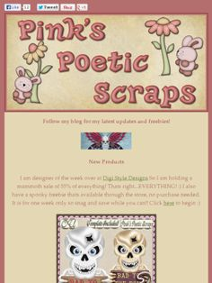 Ad:Exclusive DSD Sale 55% Off & Freebie,New Scripts, and More by Pink's Poetic Scraps! http://mad.ly/4c9473