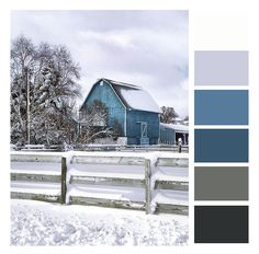 12 Winter color palettes for your kitchen blue and grey color palette - For my kitchen