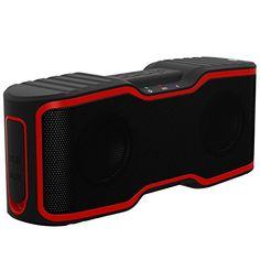 Wireless Bluetooth Speaker, AOMAIS Portable Outdoor Stereo Speaker with 10W Output and a Subwoofer,IP67 Waterproof&Dustproof, Bluetooth 4.0, Built-in Microphone(Red)