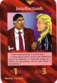Here is a list of ALL Illuminati Cards. LIST KEY: Frequency: C - Common U - Uncommon R - Rare I - Illuminati S - Special Coloring: Jeff - Jeff Koke Rick - Rick Martin Derek - Derek… Rose Croix, Jackson, Mending A Broken Heart, Record Company, Deck Of Cards, Card Deck, New World Order, Card Games, Games