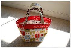 "bento box bag!approximately  9""(width) x 7 1/2""(hight w/o handles) x 5 1/2"" (depth), Good tutorial"