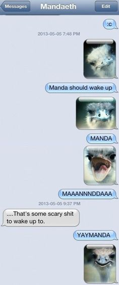 @Jacqui Powell  I will definitely be waking Amanda up like this some weekend morning when we have plans :)