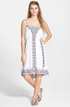 Sun & Shadow Embroidered Dress available at #Nordstrom