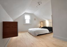 Wide plank plywood floor