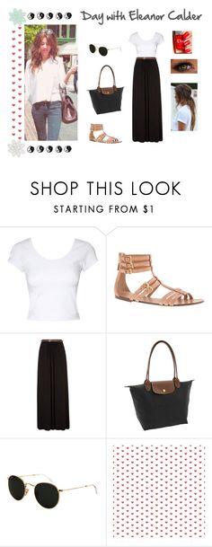 """""""Day with Eleanor Calder"""" by carolina-onedirection ❤ liked on Polyvore featuring beauty, Jane Norman, J.Crew, Longchamp, Calder, Ray-Ban and modern"""