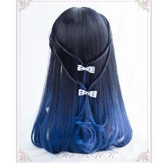 Harajuku Lolita Wig Blunt Fringe End Curl Layered Ombre Lolita Wig Cosplay Hair, Cosplay Outfits, Cosplay Wigs, Manga Hair, Anime Hair, Kawaii Hairstyles, Cute Hairstyles, Harajuku, Kawaii Wigs