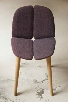 Osso Chair, Ronan & Erwan Bouroullec. Upholstered in Gravel textile, Kvadrat.