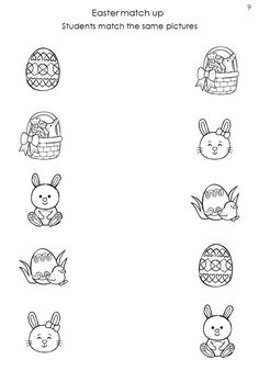 Same or Different Worksheets - Kids Learning Activity Educational Games For Kids, Preschool Learning Activities, Preschool Printables, Kindergarten Worksheets, Easter Worksheets, Worksheets For Kids, Worksheet For Nursery Class, Kindergarten Freebies, Math For Kids