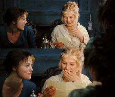 Keira Knightley (Elizabeth Bennet) & Rosamund Pike - Pride & Prejudice (2005) directed by Joe Wright #janeausten