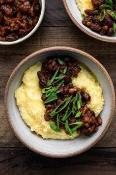 Vegan Smoky Beans with Creamy Polenta | Naturally Ella