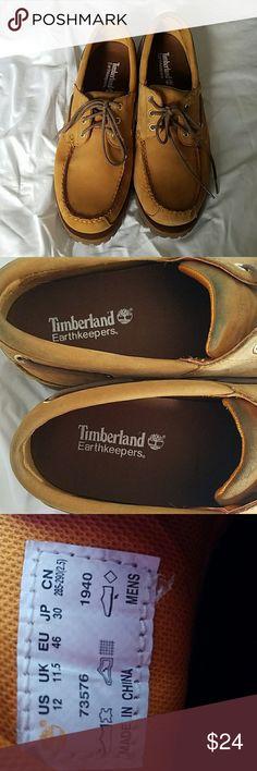 Tmberland Earthkeepers size 12 shoe Timberland Earthkeepers size 12 shoe.  Some minor scuffs and marks.  One shoelace has tear. Timberland Shoes