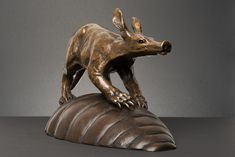 """On the Termite`s Back"" (Aardvark) bronze"