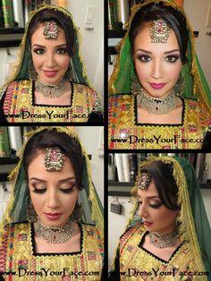 Afghan wedding makeup