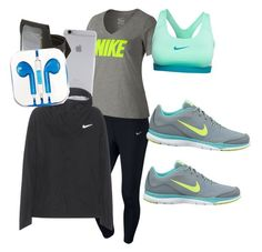 """Love to run run run"" by kyliesue22 on Polyvore featuring NIKE, Native Union and PhunkeeTree"