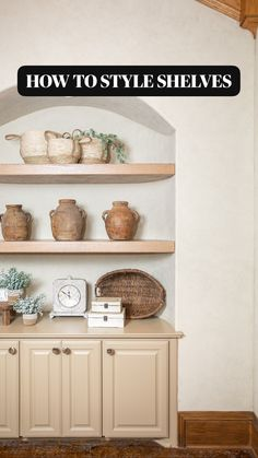 Wood Floating Shelves, Layout, Affordable Home Decor, Wood Pieces, Home Remodeling, Decor Styles, Kitchen Decor, Kitchen Ideas, Living Room Decor