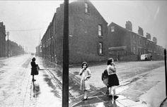"secretcinema1: "" Girls in the Rain, Sheffield, 1961, Roger Mayne """