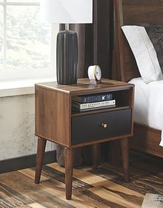 Daneston - Brown/Graphite - One Drawer Night Stand by Signature Design by Ashley. Get your Daneston - Brown/Graphite - One Drawer Night Stand at Rooms For You, Austin TX furniture store. Bedroom Furniture, Home Furniture, Furniture Design, Furniture Outlet, Cheap Furniture, Furniture Websites, Furniture Dolly, Furniture Stores, Discount Furniture